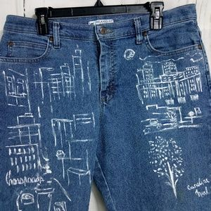 Lee Relaxed Fit At The Waist Hand Painted Jeans 12